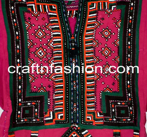 Vintage Fashion Kuchi Traditional Top