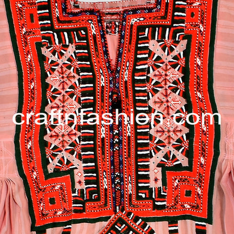 Hippie Gypsy Vintage Embroidered Kuchi Top