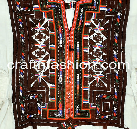 Traditional Vintage Embroidered Kuchi Frock