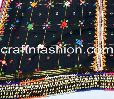 Original Kutch Work Woolen Shawl/Tapestry