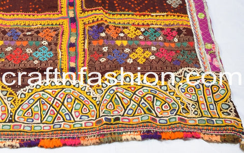 Hand-Woven Pure Woolen Embroidered Dhabli