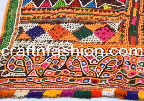 Unique Kutch Embroidered Vintage Shawl