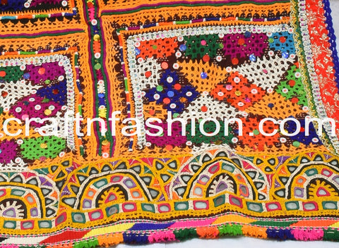 Tribal Kutch Embroidery Woolen Dhabli