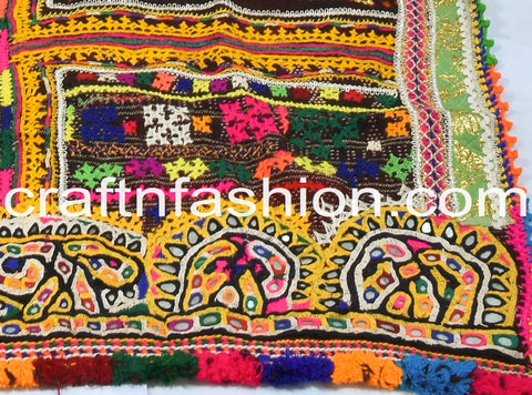 Kutch Pure Wool Shawl With Embroidery