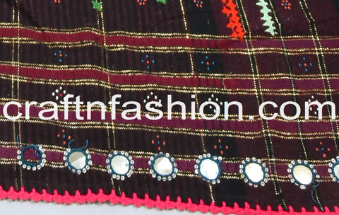Kutch Multi Colored Embroidered Pure Woolen Shawl