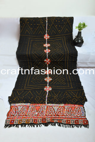 Designer Original Wool Shawl With Mirror Work