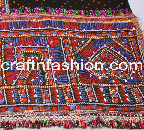 Kutch Tribal Handwork Shawl/Dhabdi