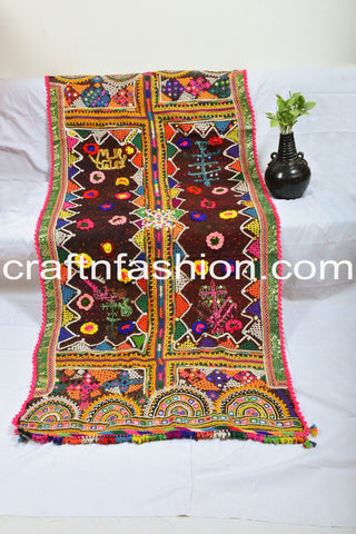 1960's Kutch Embroidery Pure Woolen Shawl
