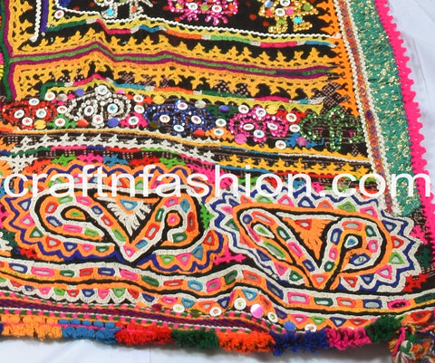 Vintage Ethnic Gujarati Traditional Shawl