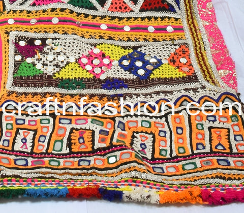 Traditional Multi Colored Hand Woven Shawl