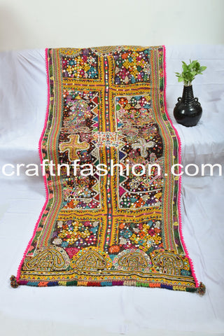 Designer Indian Woolen Multi Colored Shawl/Dhabdi