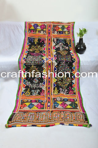Gujarati Gamthi Hand Embroidered Shawl