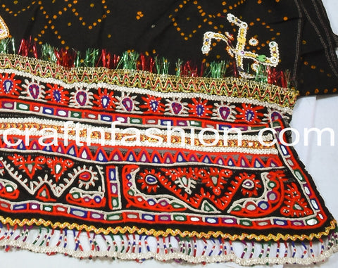 Traditional Embroidered Kutchi Shawl/Dhabri