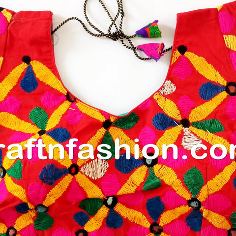 Gujarati rabari mirror work blouse