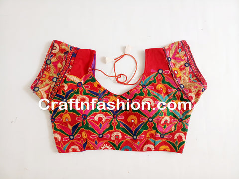 Hand Embroidery Latest Design Traditional Blouse