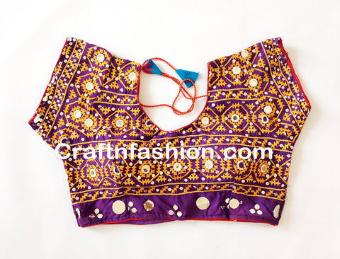 Indian Designer Sitara Work Sari Blouse