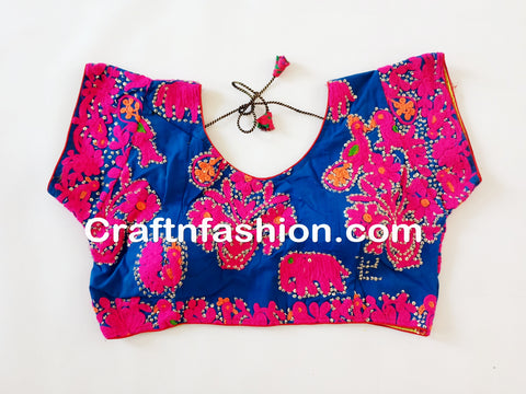 Tribal Gypsy Boho Embroidery Work Blouse