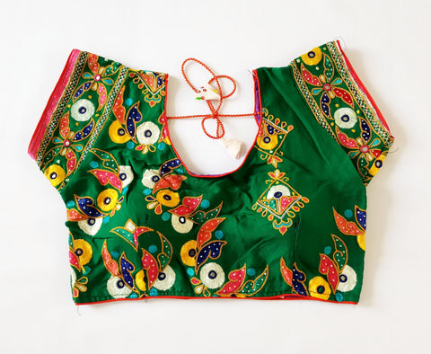 Kutchi Embroidery Gypsy Ready made Blouse