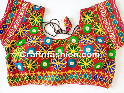 Designer Kutchi Embroidery Mirror work Blouse