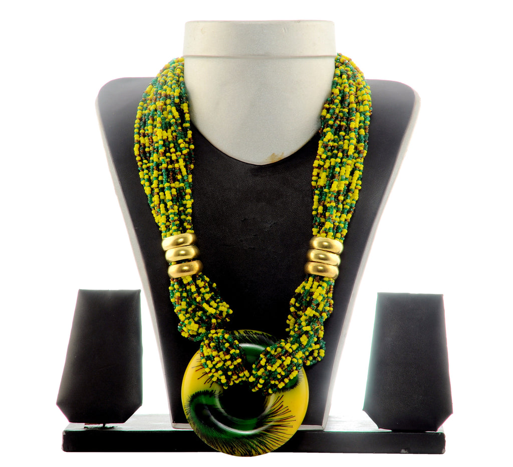 Yellow Beded Necklace