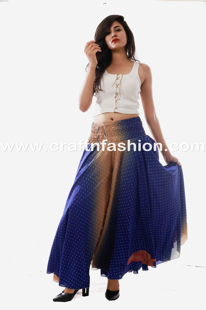 Indian Party Wear Umbrella Flared Skirt Pant