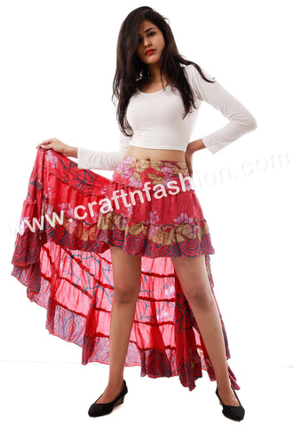 Hippie Boho Designer Fashionable Ibiza Skirt.