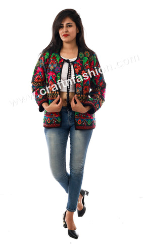 Multi Colored Embroidered Waist Coat