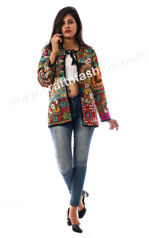 Indo Western Style Embroidered Jacket