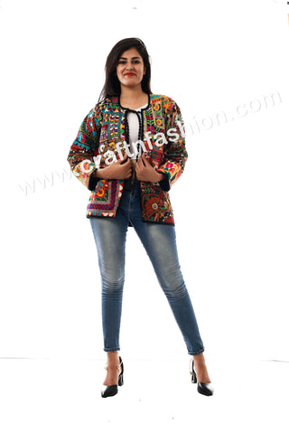Kutch Embroidery Patch Work Jacket