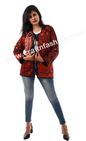 Urban Style Floral Embroidered Jacket