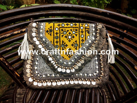 Bohemian Hippie Coin Clutch Purse