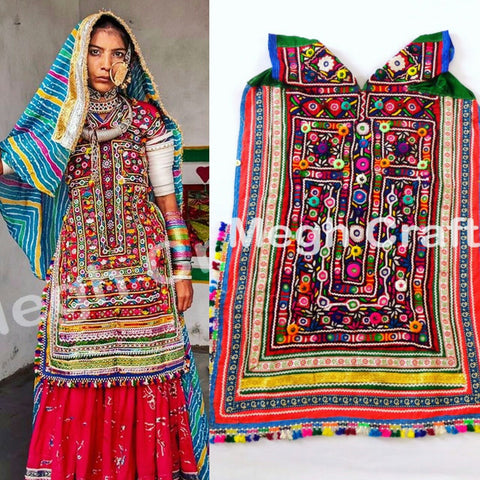 Vintage Kutch Hand Embroidered Kanjari Choli