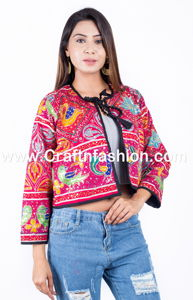 Gujarat Sequence Tikki Work Short Jacket