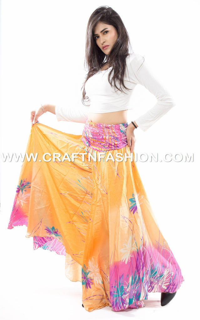 Boho Hippie Tribal Umbrella Skirt Pants