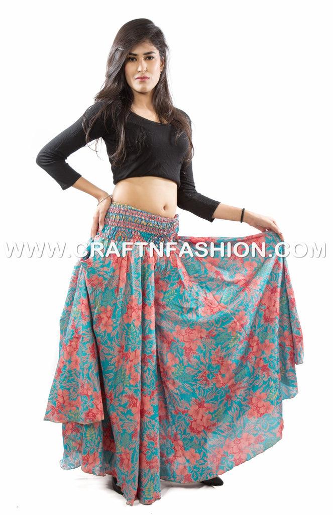 Tribal Belly Dance Floral Palazzo