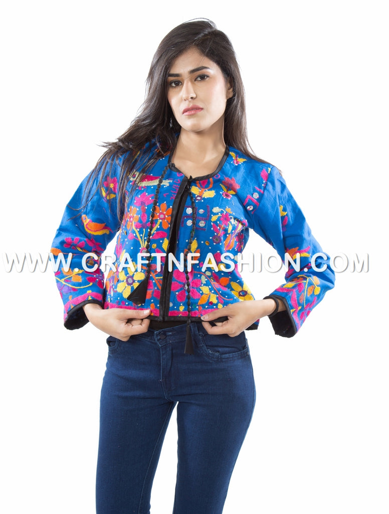 Bohemian Embroidered Short Jacket