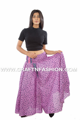 Belly Skirt Flared Style Palazzo