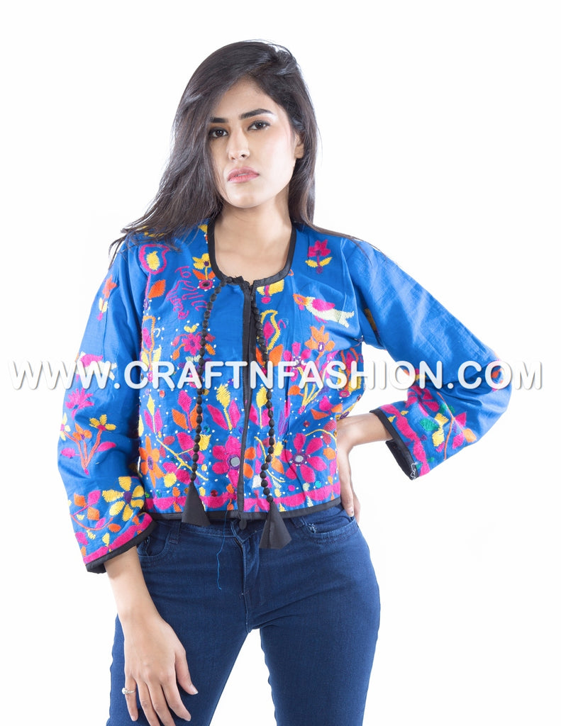 Indian Traditional Wear Embroidered Jacket