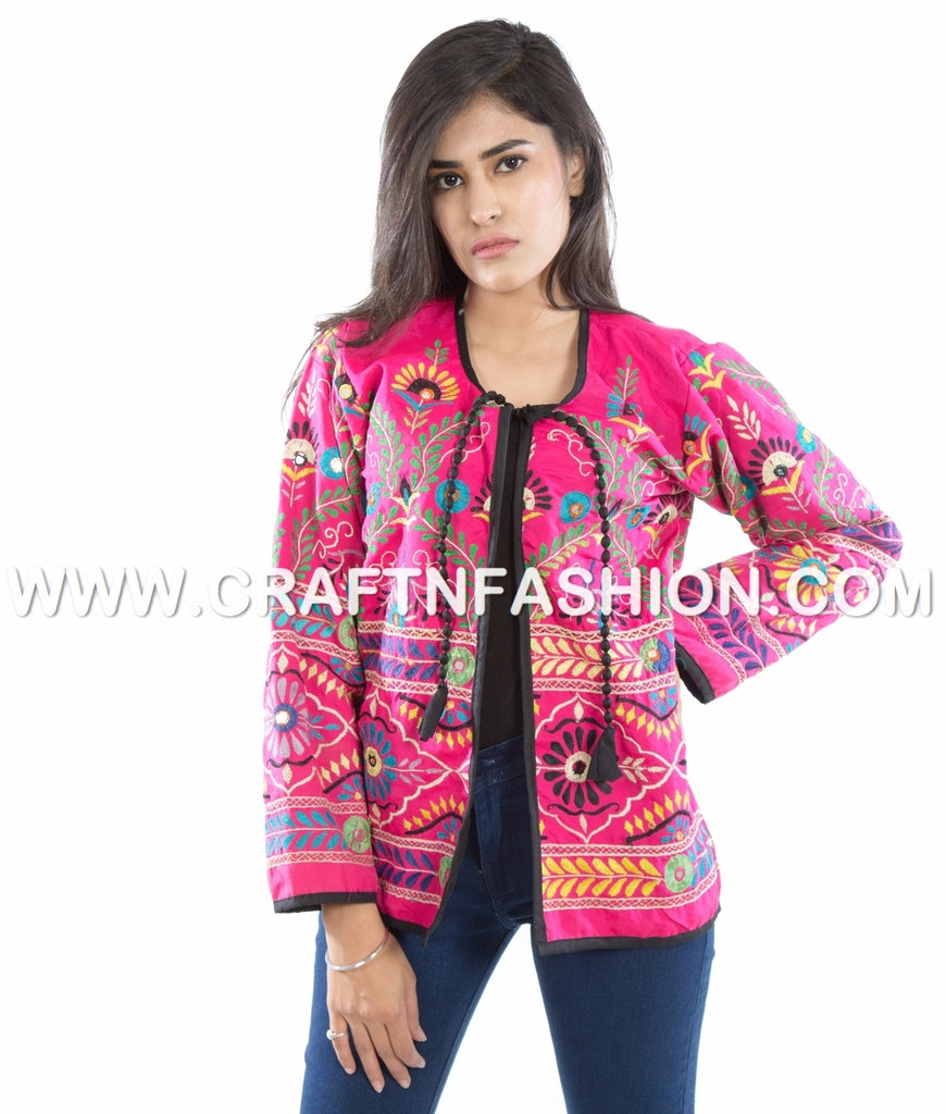 Vintage Hand Embroidered Traditional Jacket