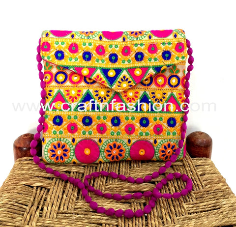 Vintage Handmade Traditional Clutch Purse