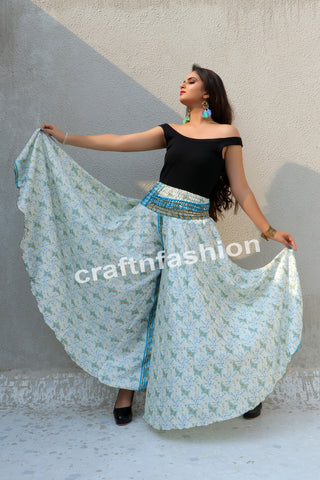 Aladdin Style Wide Leg Umbrella Trouser