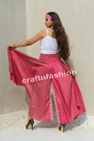 Indo Western Belly Skirt Pant