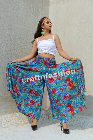 Beach Wear Viscose Fabric Palazzo