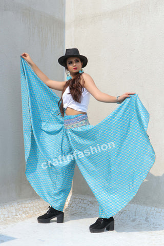Women Fashion Umbrella Flare Trouser