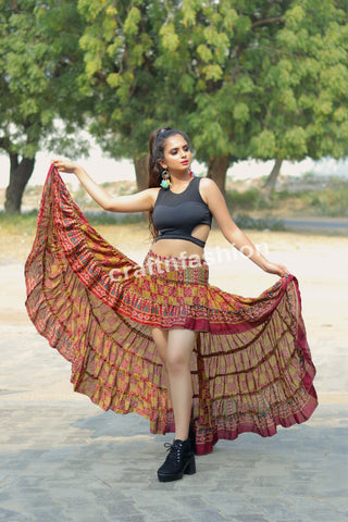 Bollywood Style Beach Wear Ibiza Skirt