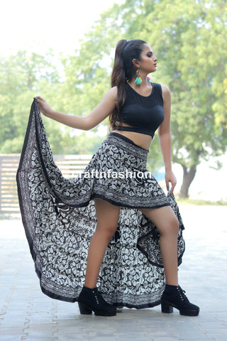 Bohemian Gypsy Tribal Ibiza Skirt
