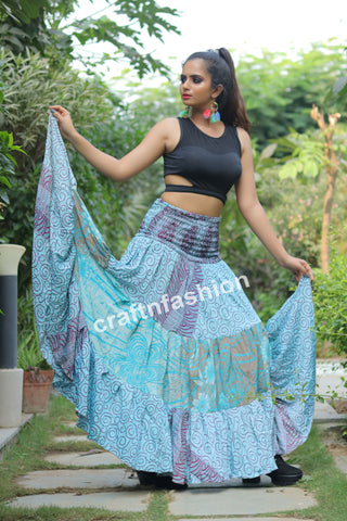 Indo Western Style Beach Wear Skirt