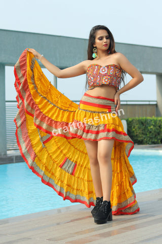 Spanish Dance Wear Boho Skirt