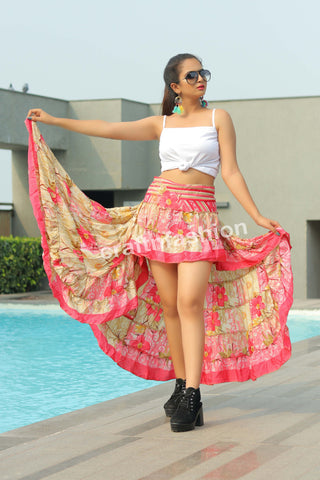 Tribal Dance Wear Floral Ibiza Skirt