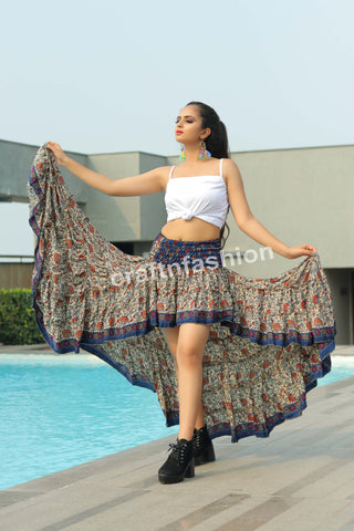 Hollywood Style Printed Ibiza Skirt